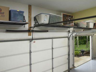 Shelves Above Garage Door